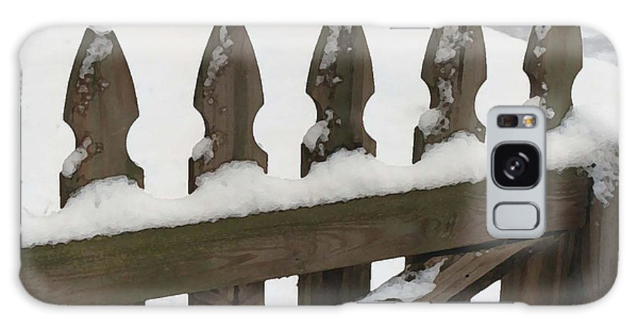 Fence Galaxy Case featuring the photograph Fence In The Snow by Diana Davenport