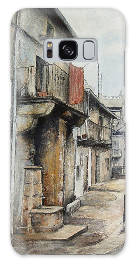 Fermoselle Zamora Spain Oil Painting City Scapes Urban Art Galaxy S8 Case featuring the painting Fermoselle by Tomas Castano