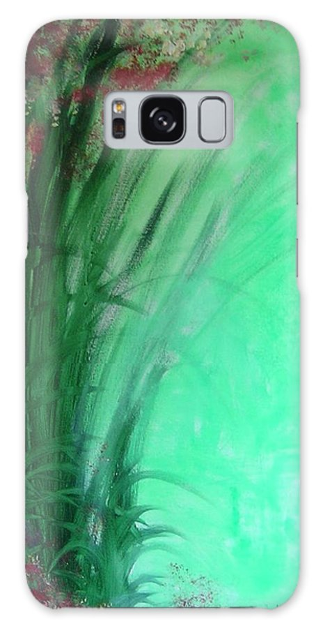 Green Ferns Galaxy S8 Case featuring the painting Ferns by Lizzy Forrester