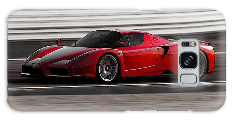 Ferrari Galaxy S8 Case featuring the painting Ferrari Enzo - Rosso Corsa by Andrea Mazzocchetti