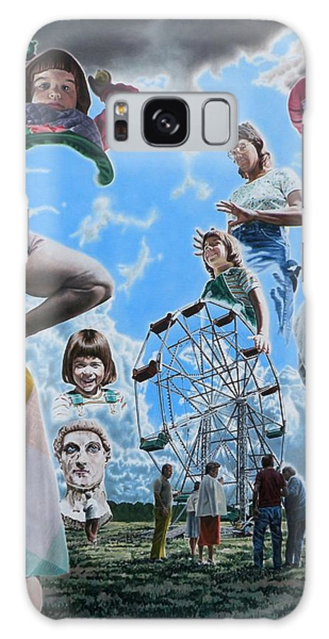 Woman Galaxy S8 Case featuring the painting Ferris Wheel by Dave Martsolf