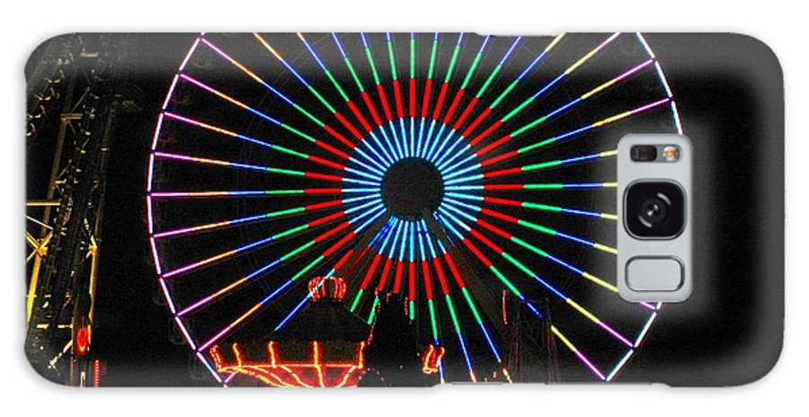 Ferris Wheel Galaxy S8 Case featuring the photograph Ferris Wheel In Wildwood New Jersey by Denise Keegan Frawley