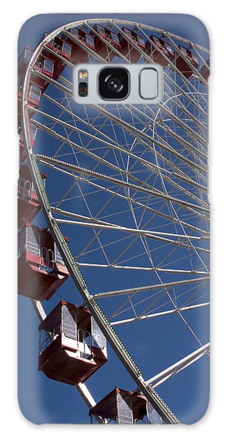 Chicago Windy City Ferris Wheel Navy Pier Attraction Tourism Round Tourist Travel Blue Sky Park Galaxy S8 Case featuring the photograph Ferris Wheel Iv by Andrei Shliakhau