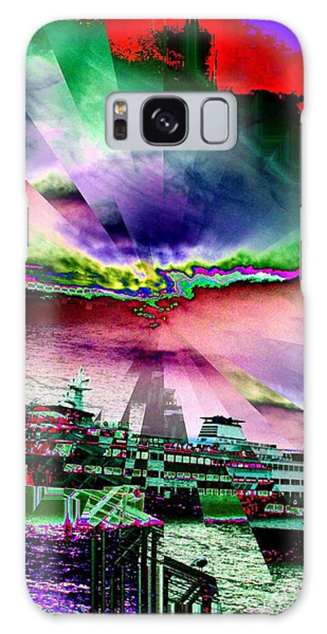 Seattle Galaxy S8 Case featuring the digital art Ferry Illusion by Tim Allen