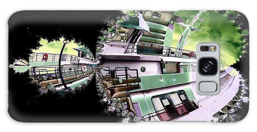 Seattle Galaxy S8 Case featuring the digital art Ferry In Fractal by Tim Allen