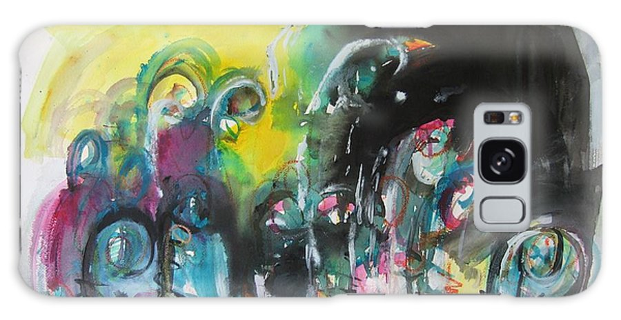 Fiddleheads Painting Galaxy S8 Case featuring the painting Fiddleheads 105- Original Abstract Colorful Landscape Painting For Sale Red Blue Green by Seon-Jeong Kim