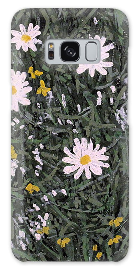 Daisies Galaxy Case featuring the painting Field Daisies by Ian MacDonald