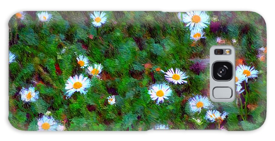 Digital Photograph Galaxy S8 Case featuring the photograph Field Of Daisys by David Lane
