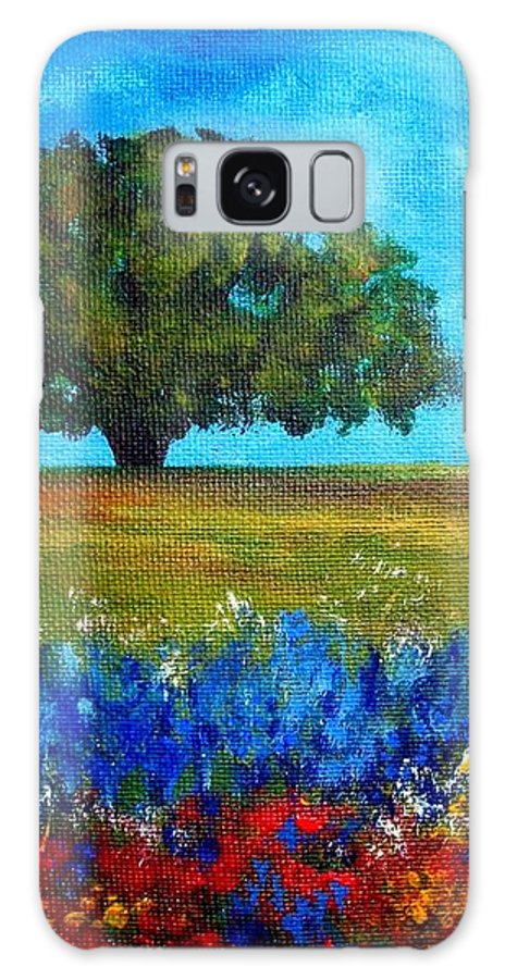 Landscape Galaxy Case featuring the painting Field of Flowers by Tami Booher