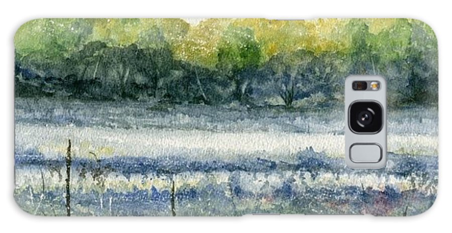 Minnesota Galaxy S8 Case featuring the painting Field Of Frost by Mary Tuomi