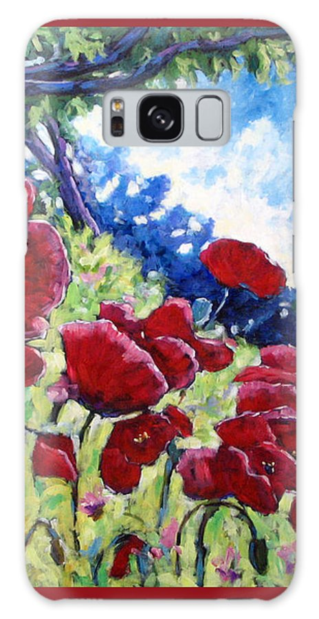 Poppies Galaxy S8 Case featuring the painting Field Of Poppies 02 by Richard T Pranke