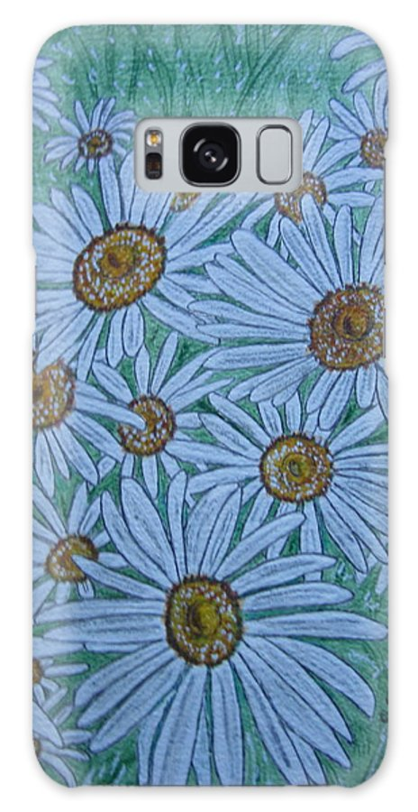 Field Galaxy S8 Case featuring the painting Field Of Wild Daisies by Kathy Marrs Chandler