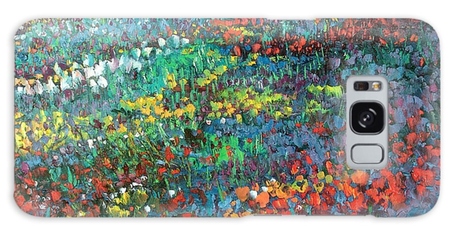 Flowers Galaxy S8 Case featuring the painting Fields Of Color by Sally Seago