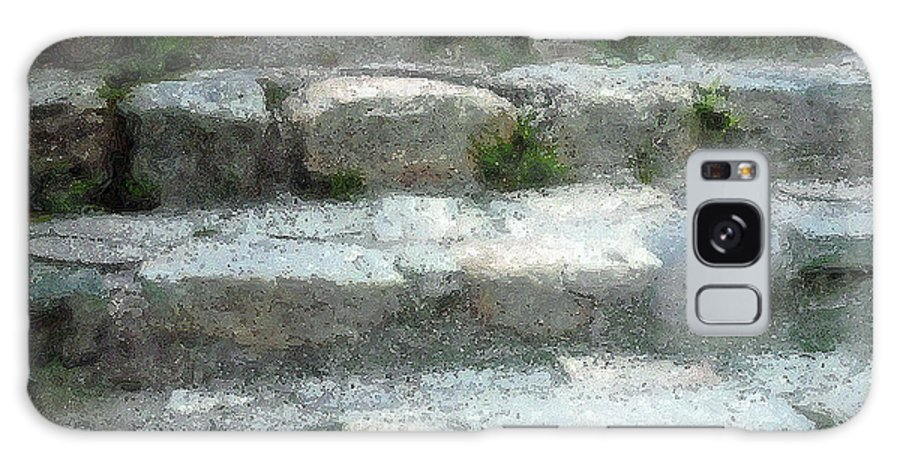 Connecticut Galaxy S8 Case featuring the digital art Fieldstone Stairs New England by RC DeWinter