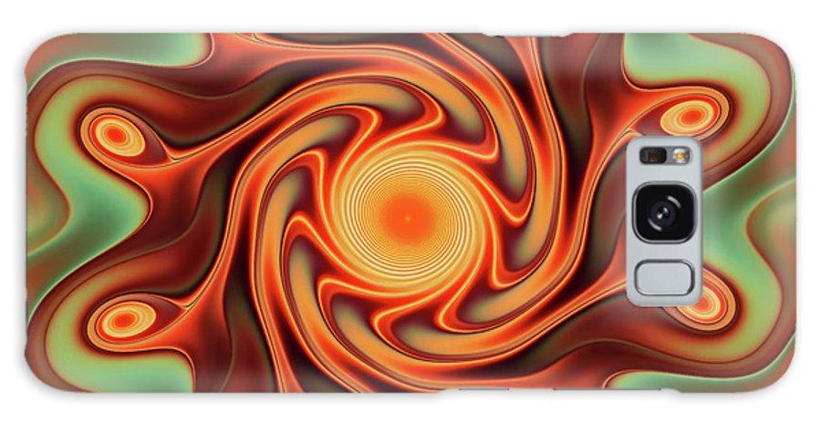 Fractal Art Galaxy S8 Case featuring the digital art Fiery Dance by Deborah Benoit