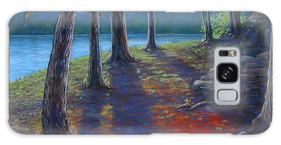 Landscape Galaxy Case featuring the painting Fiery Fall Afternoon by Tanja Ware