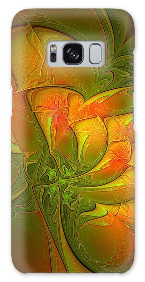 Digital Art Galaxy S8 Case featuring the digital art Fiery Glow by Amanda Moore
