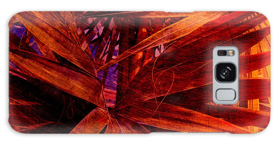 Palm Tree Galaxy S8 Case featuring the photograph Fiery Palm by Susanne Van Hulst