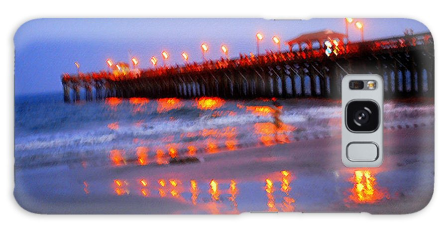 Pier Galaxy S8 Case featuring the photograph Fiery Pier by Phil Burton