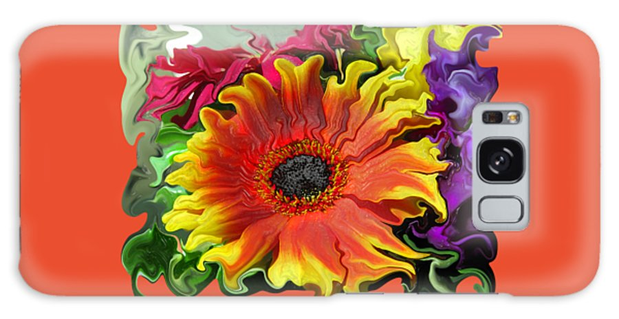 Abstract Galaxy S8 Case featuring the photograph Floral Fiesta by Kathy Moll