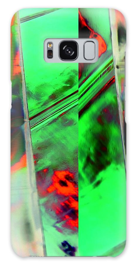 Abstract Galaxy S8 Case featuring the digital art Final Curtain by Florene Welebny
