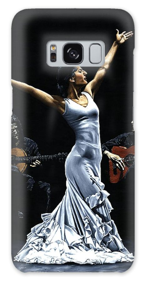 Flamenco Galaxy S8 Case featuring the painting Finale Del Funcionamiento Del Flamenco by Richard Young
