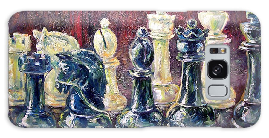 Chess Galaxy S8 Case featuring the painting Find Your Piece by Alan Schwartz