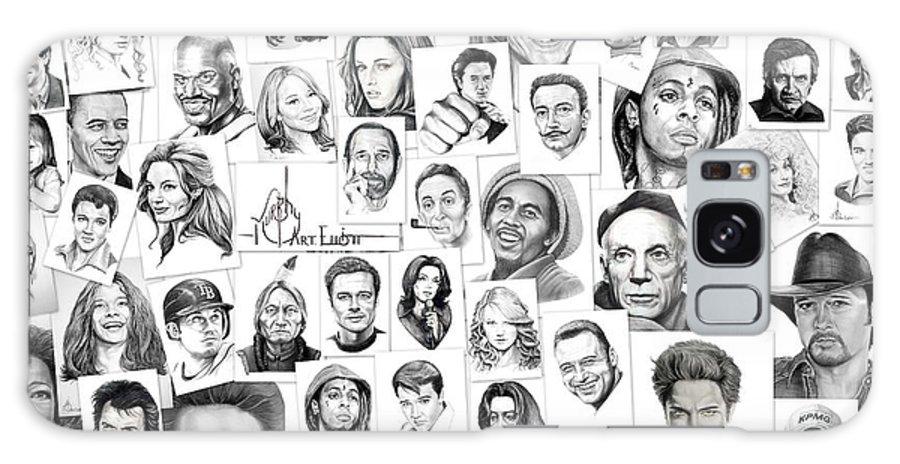 Portrait Galaxy S8 Case featuring the drawing Fine Art America by Murphy Elliott