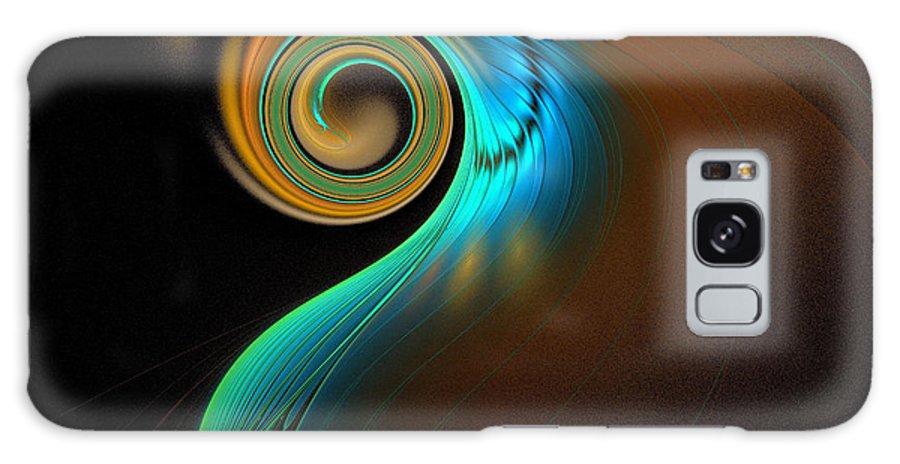 Digital Art Galaxy Case featuring the digital art Fine Feathers by Amanda Moore