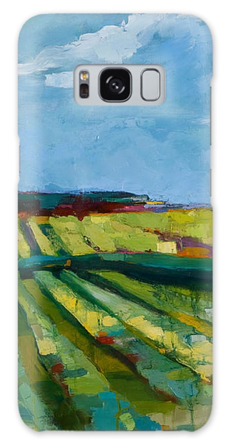 Landscape Galaxy S8 Case featuring the painting Fine Fields by Michele Norris