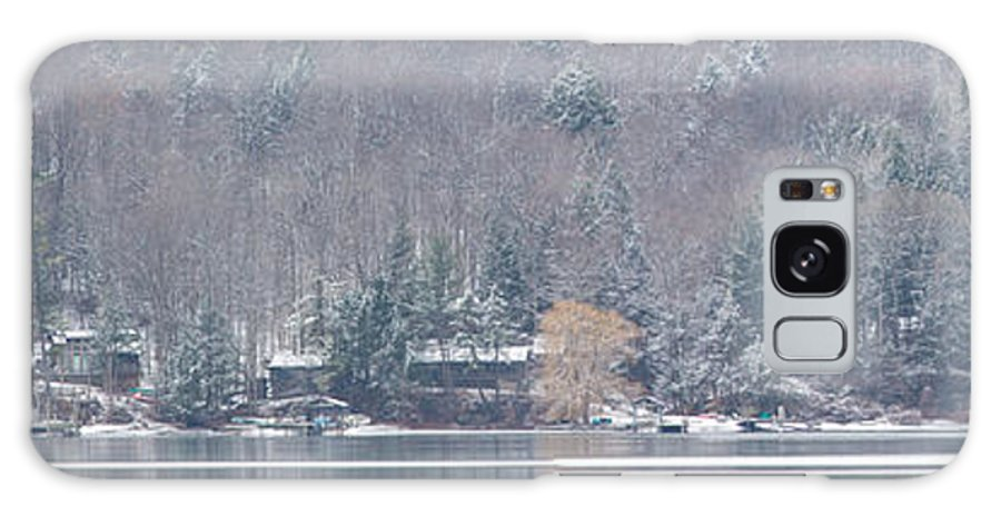 Michele Galaxy S8 Case featuring the photograph Finger Lakes Winter Panorama by Michele Steffey
