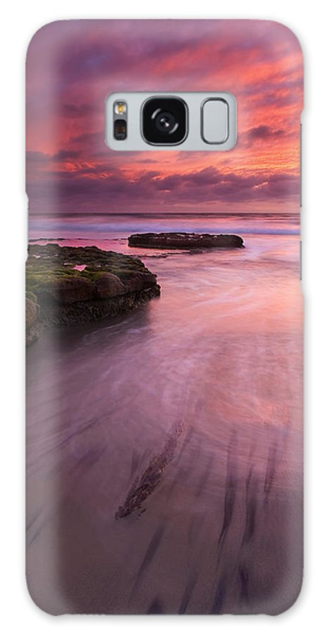 Sunset Galaxy S8 Case featuring the photograph Fingers Of The Tide by Mike Dawson
