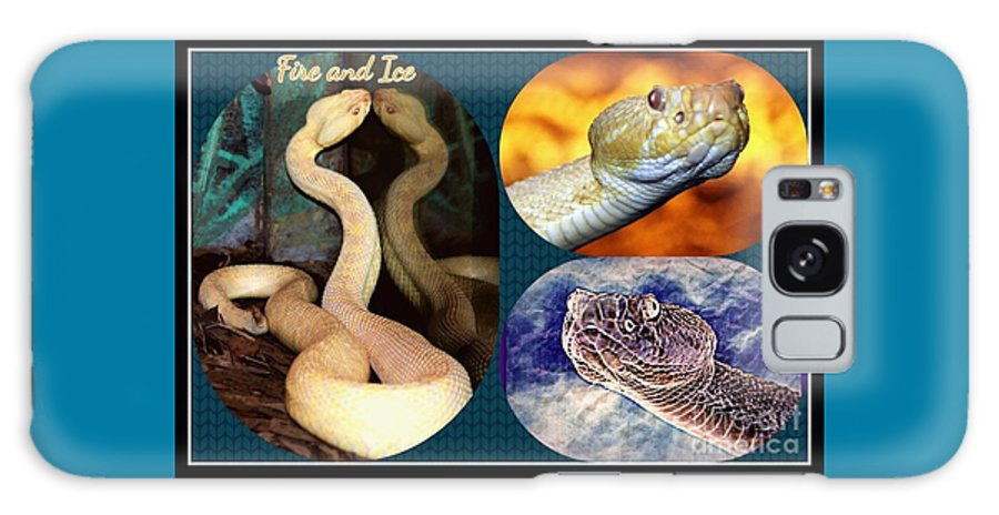 Snake Galaxy S8 Case featuring the photograph Fire And Ice Slither Collage by Diann Fisher