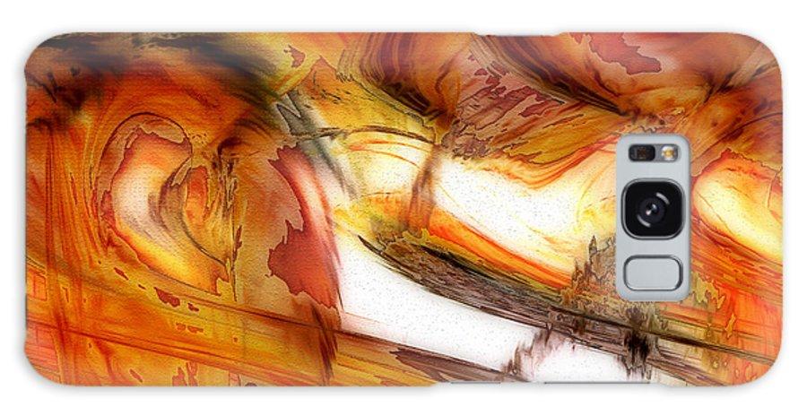 Abstract Art Galaxy S8 Case featuring the digital art Fire And Rain by Linda Sannuti