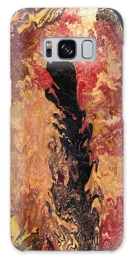 Abstract Galaxy Case featuring the painting Fire - Elemental Spirit by Patrick Mock
