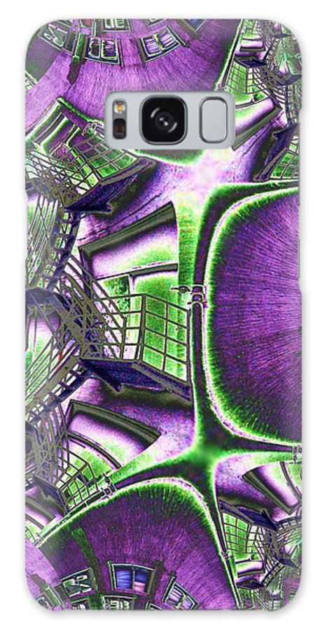 Fire Escape Galaxy Case featuring the photograph Fire Escape Fractal by Tim Allen