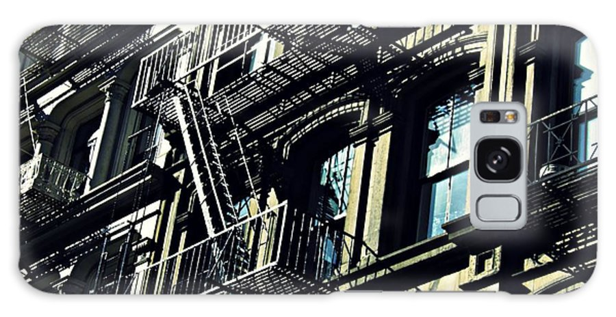 Window Galaxy S8 Case featuring the photograph Fire Escape On Franklin Street 2 by Sarah Loft