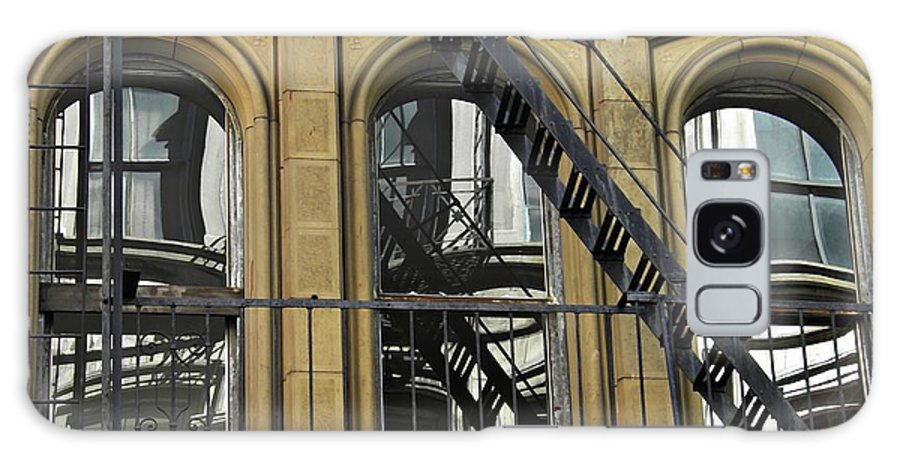 Fire Escape On Franklin Street Galaxy S8 Case featuring the photograph Fire Escape On Franklin Street by Sarah Loft