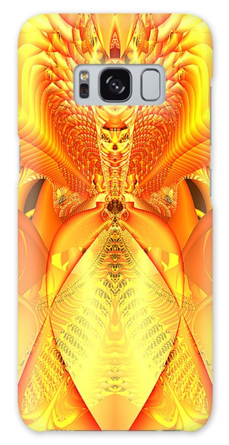 Gleem Galaxy S8 Case featuring the digital art Fire Goddess by Gina Lee Manley