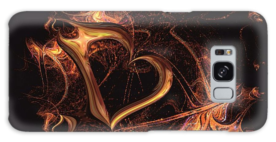 Heart Galaxy S8 Case featuring the digital art Fire Heart by Dana Furi