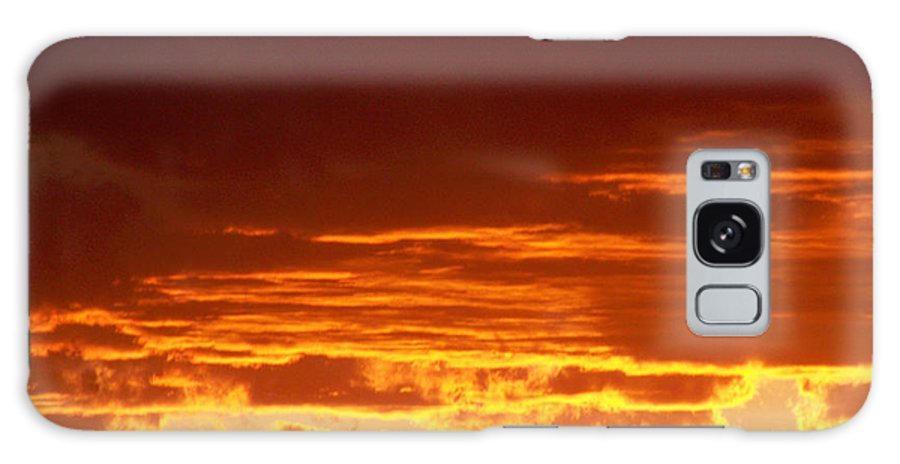 Sunset Galaxy S8 Case featuring the greeting card Fire In The Sky 3 by Brian Commerford