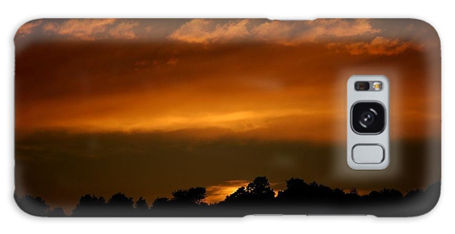 Digital Photo Galaxy Case featuring the photograph Fire In The Sky by David Lane