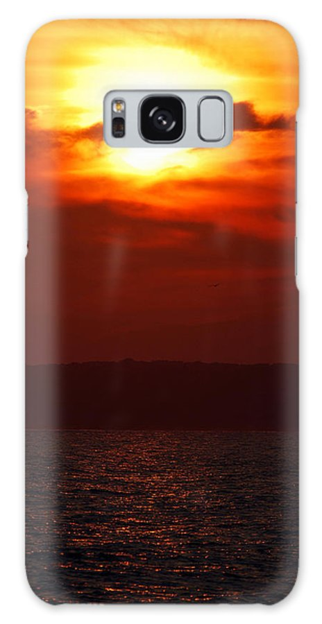 Sunset Galaxy S8 Case featuring the photograph Fire In The Sky by Mark Wiley