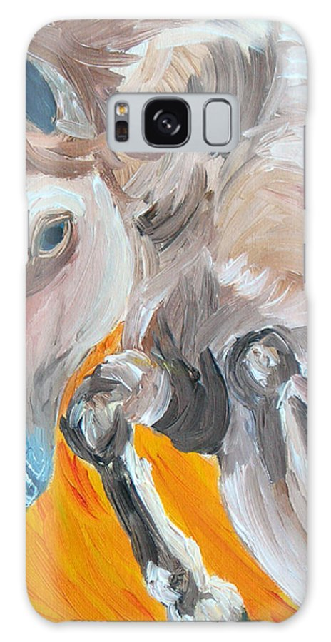 Horses Galaxy Case featuring the painting Fire Jumper by Michael Lee