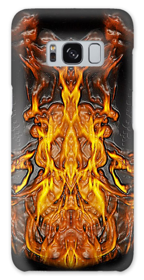 Devil Galaxy S8 Case featuring the photograph Fire Leather by Peter Piatt