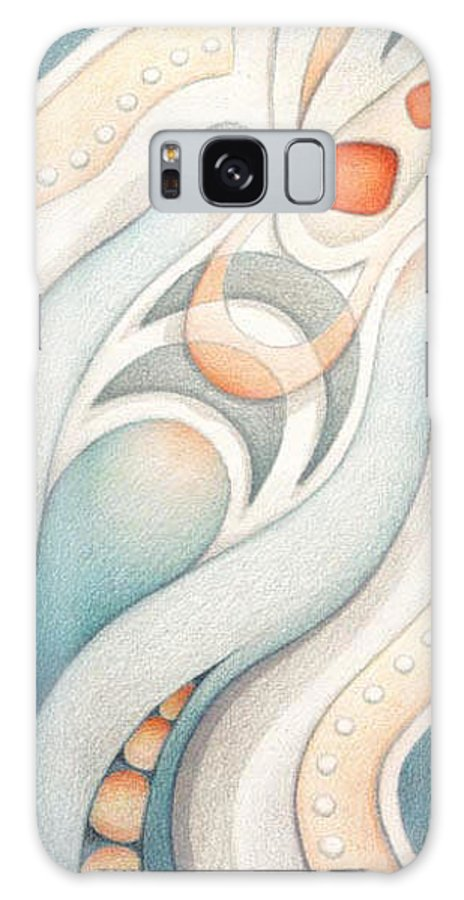 Abstract Galaxy S8 Case featuring the drawing Fire Of Inspiration by Amy S Turner
