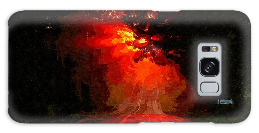 Road Galaxy S8 Case featuring the painting Fire Road by MJ Arts Collection
