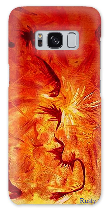 Abstract Galaxy S8 Case featuring the painting Firebrand by Rusty Gladdish