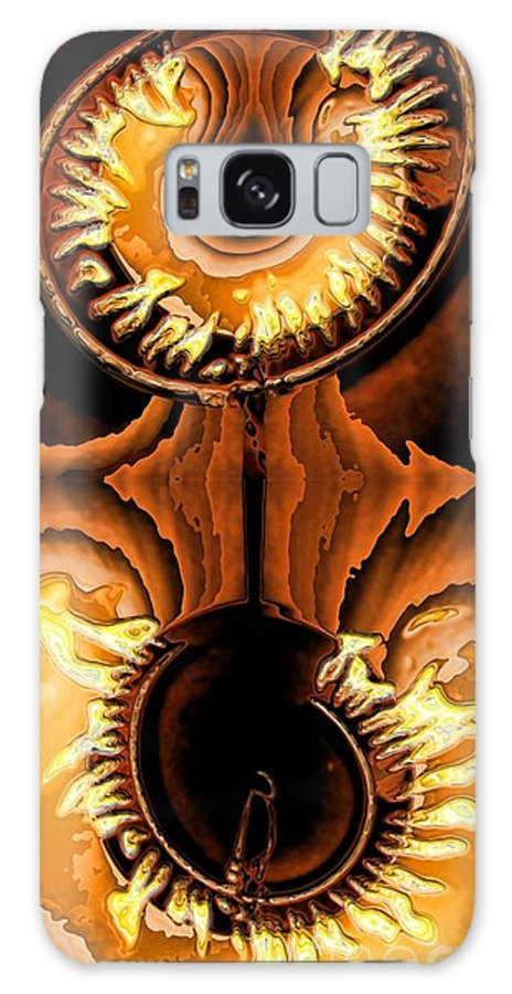 Collage Galaxy S8 Case featuring the digital art Fired Up by Ron Bissett
