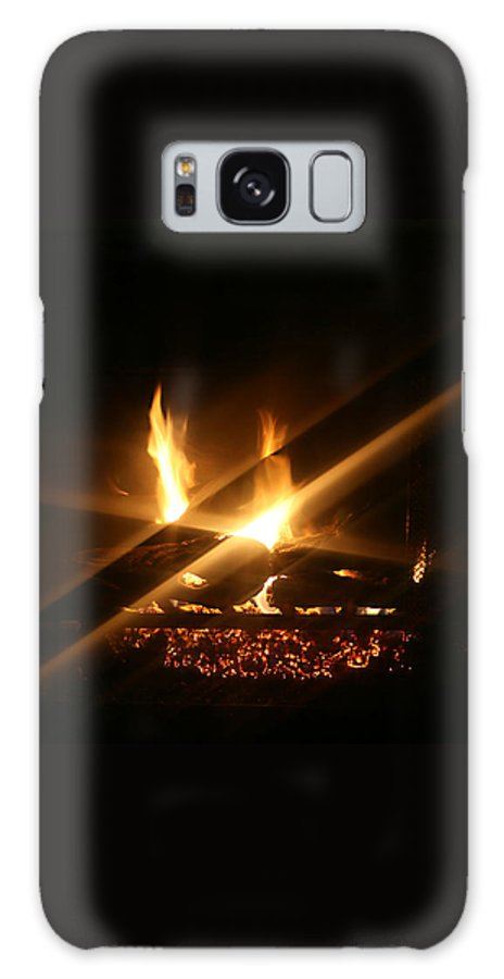 Fireplace Galaxy S8 Case featuring the photograph Fireplace by Ellen Henneke